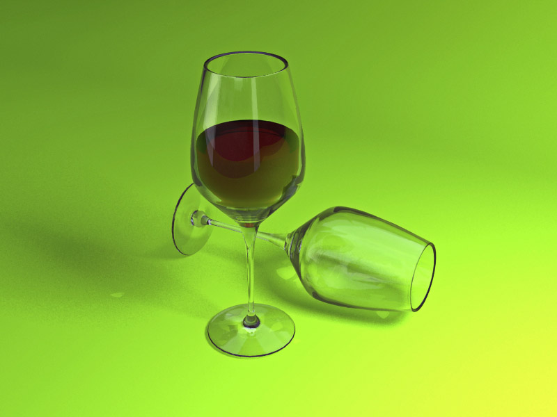 Wine Glasses Cheetah3D